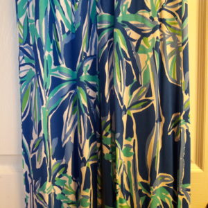 Lilly Pulitzer Blue Crush Bamboom Georgia May Palazzo Pant XS