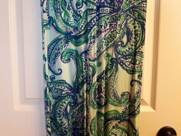 Lilly Pulitzer Poolside Blue Keep It Current Georgia May Palazzo Pant XS