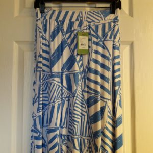 Lilly Pulitzer Bay Blue Yacht Sea Nola Skirt XS