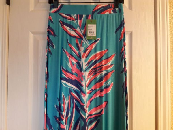 Lilly Pulitzer Searulean Blue Sea Spray Nola Skirt XS