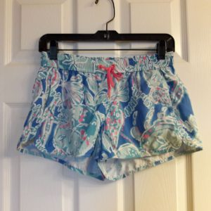 Lilly Pulitzer Bay Blue Into The Deep Run Around Short XS