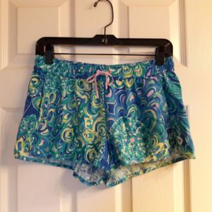 Lilly Pulitzer Sea Blue Lilly's Lagoon Run Around Short XS