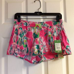 Lilly Pulitzer Dragonfruit Pink Toucan Can Run Around Short XS