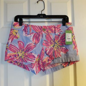 Lilly Pulitzer Dahlia Purple Party Girl Walsh Short Size 2