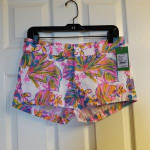 Lilly Pulitzer Resort White Summer Haze Walsh Short Size 2
