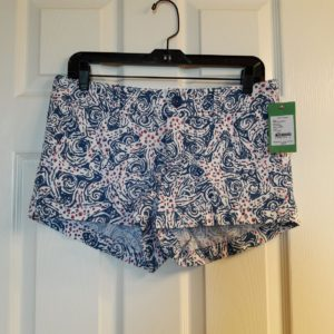 Lilly Pulitzer Indigo Star Crush Walsh Short Size 2