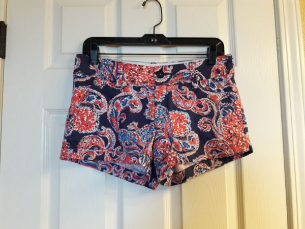Lilly Pulitzer Bright Navy For The Halibut Walsh Short Size 2