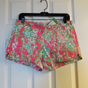 Lilly Pulitzer Flamingo Pink Southern Charm Adie Short Size 2