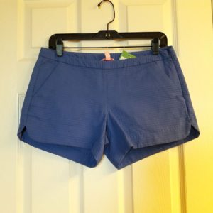 Lilly Pulitzer Iris Blue Adie Short Size 2