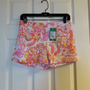 Lilly Pulitzer Resort White Happiness Is Alycia Short Size 4