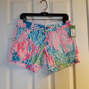Lilly Pulitzer Turquoise Let's Cha Cha Callahan Short Size 2