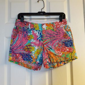 Lilly Pulitzer Multi Fishing For Compliments Callahan Short Size 4