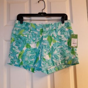 Lilly Pulitzer Poolside Blue First Impression Callahan Short Size 2