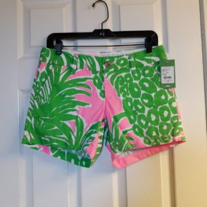 Lilly Pulitzer Pink Pout Flamenco Callahan Short Size 2