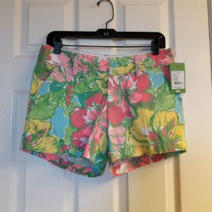 Lilly Pulitzer Shorely Blue Big Flirt Callahan Short Size 4