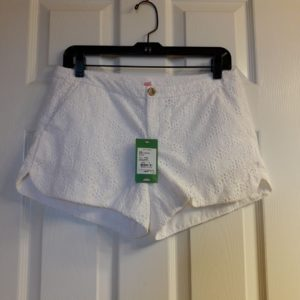Lilly Pulitzer Resort White Pop The Bubbly Eyelet Adie Short Size 2