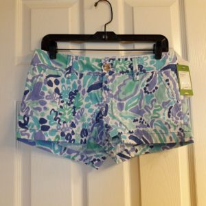 Lilly Pulitzer Lilly's Lilac Nice Ink Walsh Short Size 2