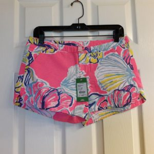 Lilly Pulitzer Kir Royal Pink Swept By The Tides Adie Short Size 2