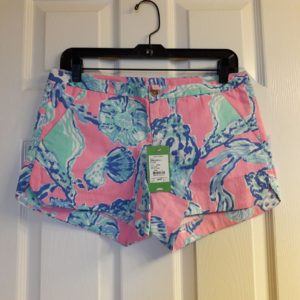 Lilly Pulitzer Pink Pout Barefoot Princess Adie Short Size 2