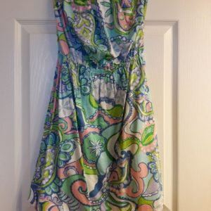 Lilly Pulitzer Multi Conch Republic Windsor Strapless Dress XS