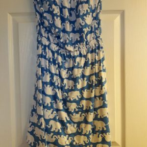 Lilly Pulitzer Bay Blue Tusk In Sun Windsor Strapless Dress XS