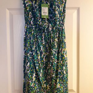 Lilly Pulitzer Sea Blue It's A Stretch Windsor Strapless Dress XS