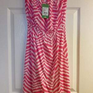Lilly Pulitzer Tropical Pink Zebron Windsor Strapless Dress XS
