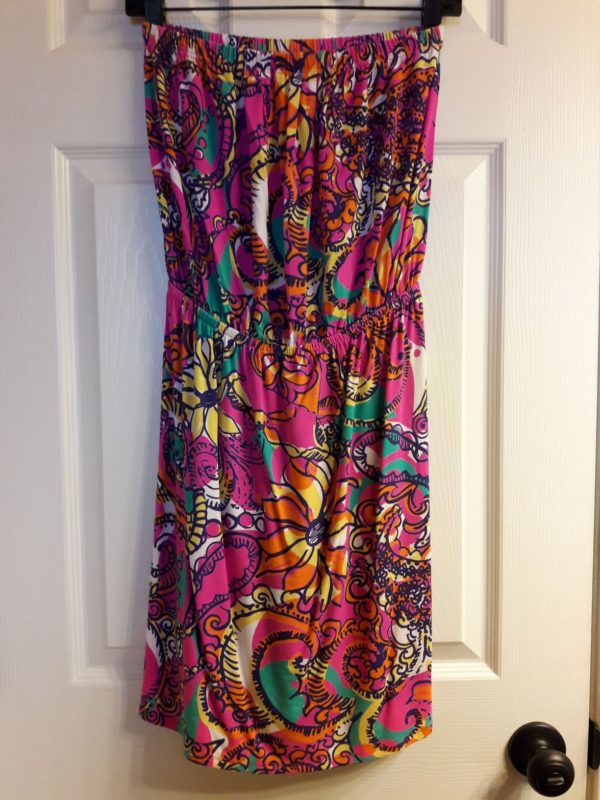 Lilly Pulitzer Multi Sea and Be Seen Windsor Strapless Dress S