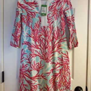 Lilly Pulitzer Breakwater Blue Underwater Escape Veranda Tunic Dress XS