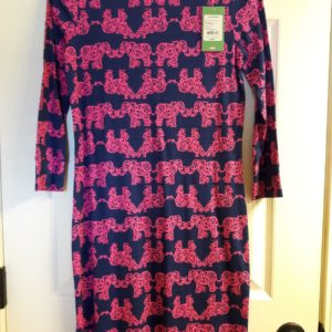 Lilly Pulitzer Indigo Pack Your Trunk Marlowe Dress XS