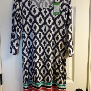 Lilly Pulitzer Bright Navy Little Fish Engineered Beacon Dress XS