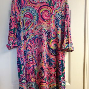 Lilly Pulitzer Multi Psychedelic Sunshine Mini Edna Dress Girls XL