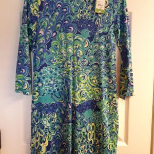 Lilly Pulitzer Sea Blue Lilly's Lagoon Marlowe Dress XS
