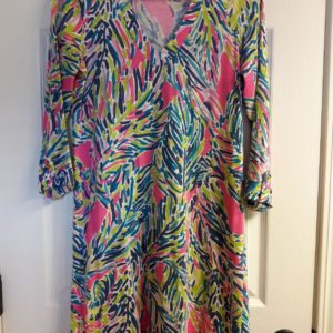 Lilly Pulitzer Multi Palm Reader Rossmore Dress XS