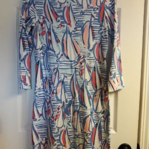 Lilly Pulitzer Resort White Red Right Return Marlowe Dress XS