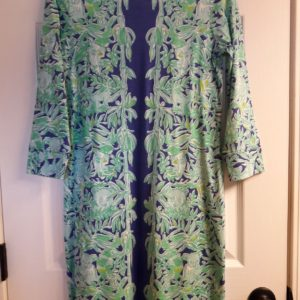 Lilly Pulitzer Poolside Blue Koala The Wild Engineered Marlowe Dress XS