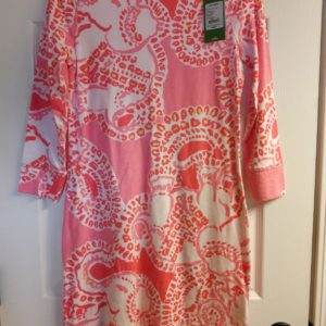 Lilly Pulitzer Hot Coral Trunk In Love Marlowe Dress XS