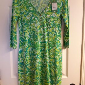 Lilly Pulitzer Fresh Citrus Green Parrot Palmetto Dress XS
