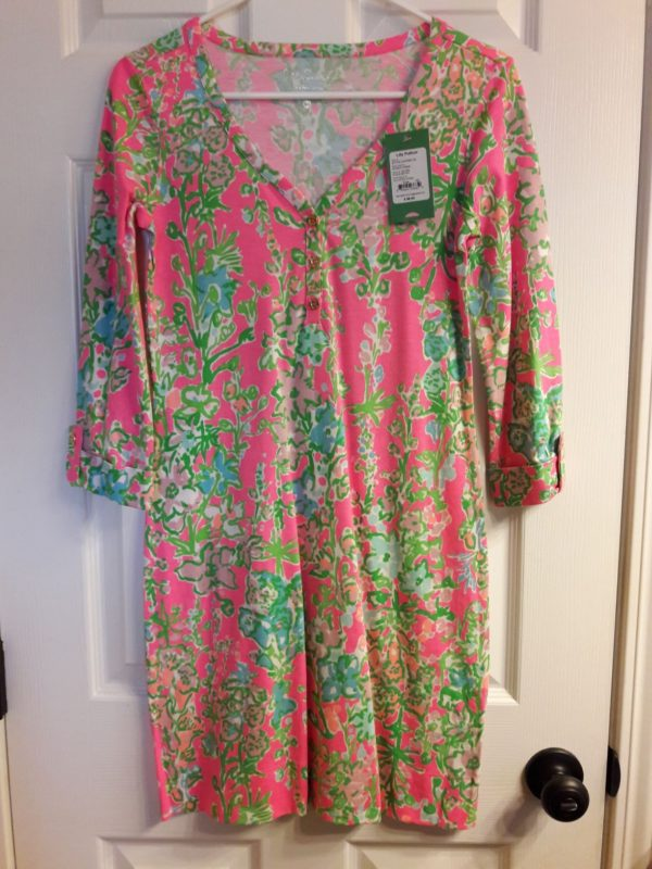 Lilly Pulitzer Flamingo Pink Southern Charm Palmetto Dress XS