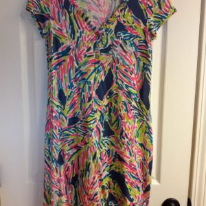 Lilly Pulitzer Indigo Palm Reader Palmira dress XS