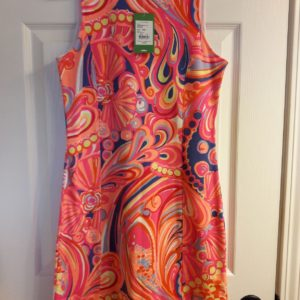 Lilly Pulitzer Multi Reef Retreat Whiting Shift Dress XS