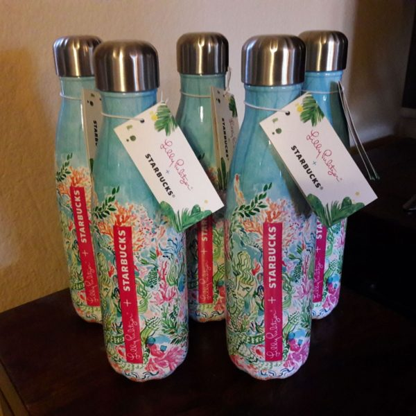 Lilly Pulitzer x Starbucks Sirens Calling (MERMAIDS) S'well Bottle