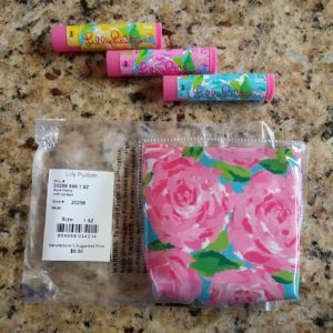 Lilly Pulitzer First Impressions Set of 3 Lip Balm & Pouch