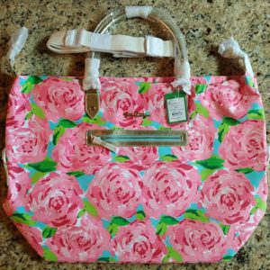 Lilly Pulitzer Hotty Pink First Impressions Weekender Tote Bag & Strap